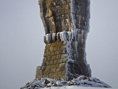 L'aigle en pierre au col du Simplon