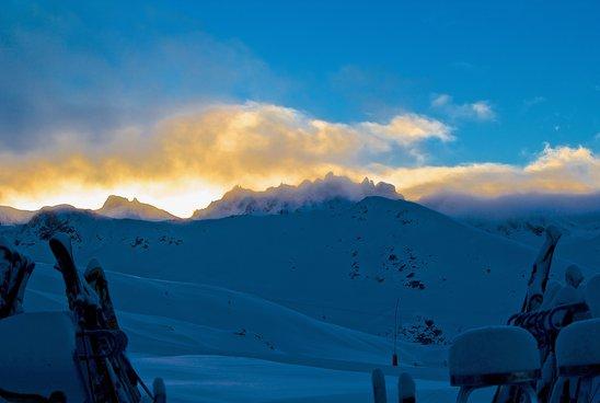 Lever de soleil depuis la cabane Bella-Tola