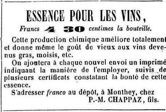 Essence pour les vins