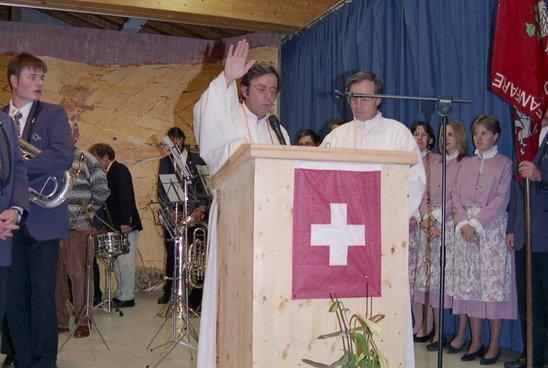 Inauguration de la salle de l'Eau-Vive à Martigny-Croix