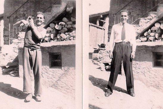 Lens, vers 1946,  tenue des jours ouvrables et de dimanche