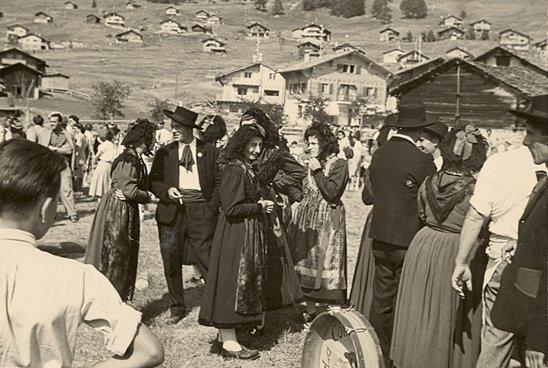 Fête folklorique à Verbier