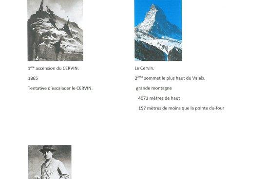 1865 ; 1ère ascension du Cervin