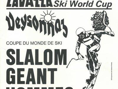FIS Ski World Cup Slalom géant hommes Veysonnaz 1990