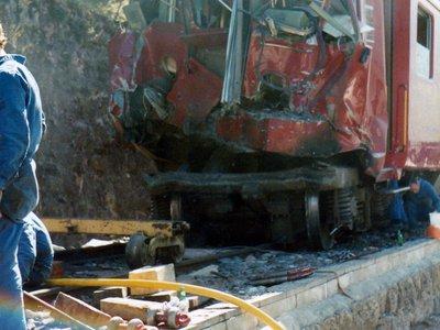 Collision du  M - O  à  Martigny-Bourg 1984