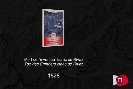Mort de l'inventeur Isaac de Rivaz, 1828