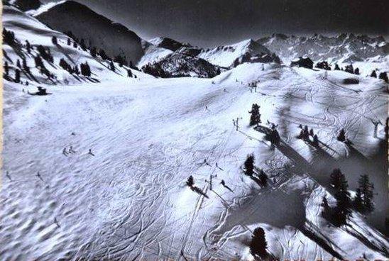 Premier skilift de Nendaz sur l'alpage à Tracouet