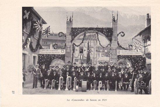 La Concordia de Saxon en 1923