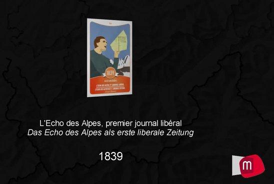 L'Echo des Alpes, 1er journal libéral, 1839
