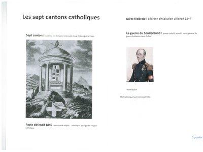 Les septs cantons catholiques