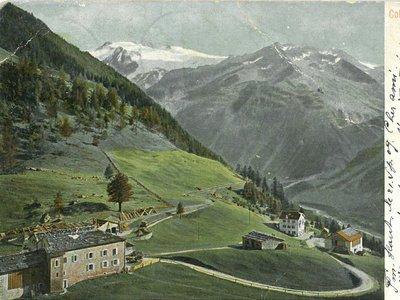 Col de la Forclaz, vue sur le glacier des Grands