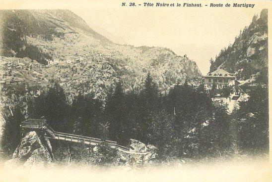 Tête Noire et le Finhaut. - Route de Martigny